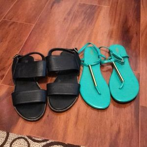 Two pairs Sandals Size 8.5 Gently Used